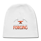 I'd Rather Be Forging Blacksmith Forge Hammer Baby Cap - white