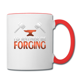I'd Rather Be Forging Blacksmith Forge Hammer Contrast Coffee Mug - white/red
