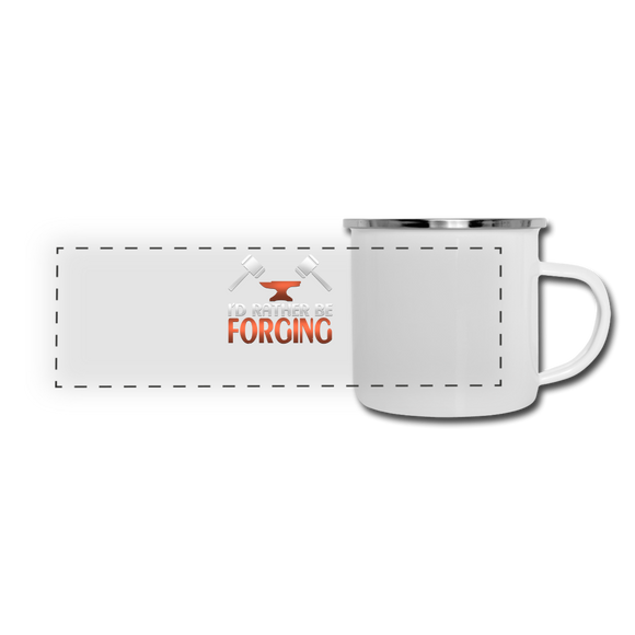 I'd Rather Be Forging Blacksmith Forge Hammer Camper Mug - white