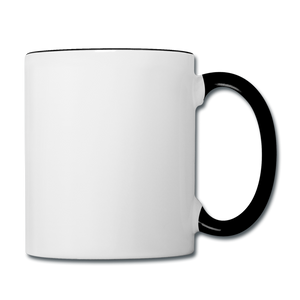 Customizable Contrast Coffee Mug add your own photos, images, designs, quotes, texts and more - white/black