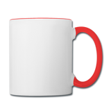 Customizable Contrast Coffee Mug add your own photos, images, designs, quotes, texts and more - white/red