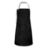 Customizable Artisan Apron add your own photos, images, designs, quotes, texts and more - black/white
