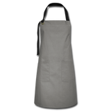 Customizable Artisan Apron add your own photos, images, designs, quotes, texts and more - gray/black