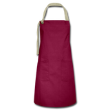 Customizable Artisan Apron add your own photos, images, designs, quotes, texts and more - burgundy/khaki