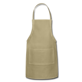 Customizable Adjustable Apron add your own photos, images, designs, quotes, texts and more - khaki