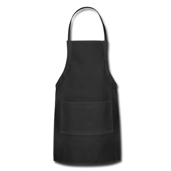 Customizable Adjustable Apron add your own photos, images, designs, quotes, texts and more - black