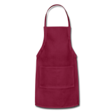 Customizable Adjustable Apron add your own photos, images, designs, quotes, texts and more - burgundy