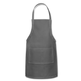 Customizable Adjustable Apron add your own photos, images, designs, quotes, texts and more - charcoal