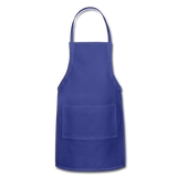 Customizable Adjustable Apron add your own photos, images, designs, quotes, texts and more - royal blue