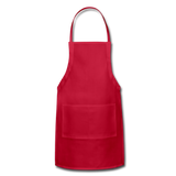 Customizable Adjustable Apron add your own photos, images, designs, quotes, texts and more - red