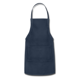 Customizable Adjustable Apron add your own photos, images, designs, quotes, texts and more - navy