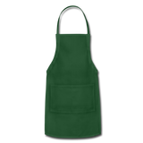 Customizable Adjustable Apron add your own photos, images, designs, quotes, texts and more - forest green