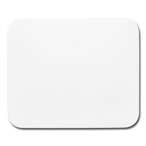 Customizable Horizontal Mouse pad add your own photos, images, designs, quotes, texts and more - white