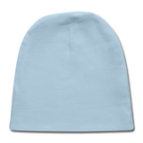 Customizable Baby Cap add your own photos, images, designs, quotes, texts and more - light blue