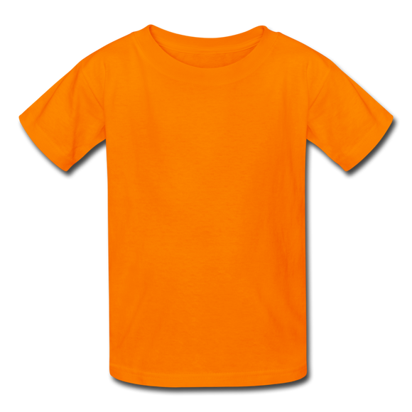 Customizable Kids' T-Shirt add your own photos, images, designs, quotes, texts and more - orange