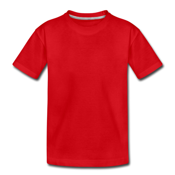 Customizable Kids' Premium T-Shirt add your own photos, images, designs, quotes, texts and more - red