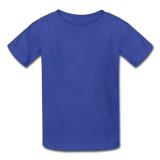 Customizable Hanes Youth Tagless T-Shirt add your own photos, images, designs, quotes, texts and more - royal blue