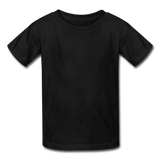 Customizable Hanes Youth Tagless T-Shirt add your own photos, images, designs, quotes, texts and more - black