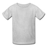 Customizable Hanes Youth Tagless T-Shirt add your own photos, images, designs, quotes, texts and more - heather gray