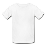 Customizable Gildan Ultra Cotton Youth T-Shirt add your own photos, images, designs, quotes, texts and more - white