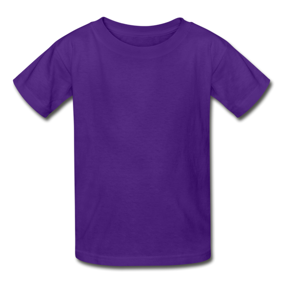 Customizable Gildan Ultra Cotton Youth T-Shirt add your own photos, images, designs, quotes, texts and more - purple