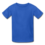 Customizable Gildan Ultra Cotton Youth T-Shirt add your own photos, images, designs, quotes, texts and more - royal blue