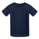 Customizable Gildan Ultra Cotton Youth T-Shirt add your own photos, images, designs, quotes, texts and more - navy