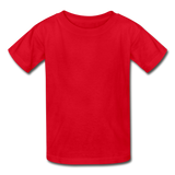 Customizable Gildan Ultra Cotton Youth T-Shirt add your own photos, images, designs, quotes, texts and more - red