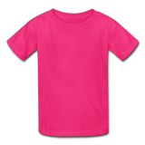 Customizable Gildan Ultra Cotton Youth T-Shirt add your own photos, images, designs, quotes, texts and more - fuchsia