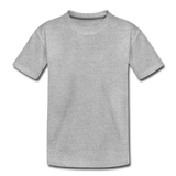 Customizable Toddler Premium T-Shirt add your own photos, images, designs, quotes, texts and more - heather gray