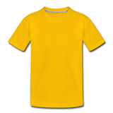 Customizable Toddler Premium T-Shirt add your own photos, images, designs, quotes, texts and more - sun yellow