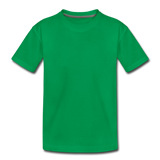 Customizable Toddler Premium T-Shirt add your own photos, images, designs, quotes, texts and more - kelly green