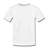 Customizable Toddler Premium Organic T-Shirt add your own photos, images, designs, quotes, texts and more - white