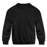 Customizable Kids' Crewneck Sweatshirt add your own photos, images, designs, quotes, texts and more - black