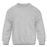 Customizable Kids' Crewneck Sweatshirt add your own photos, images, designs, quotes, texts and more - heather gray