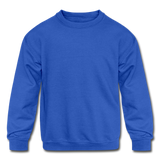 Customizable Kids' Crewneck Sweatshirt add your own photos, images, designs, quotes, texts and more - royal blue