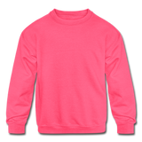 Customizable Kids' Crewneck Sweatshirt add your own photos, images, designs, quotes, texts and more - neon pink