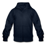 Customizable Gildan Heavy Blend Youth Zip Hoodie add your own photos, images, designs, quotes, texts and more - navy