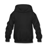 Customizable Kids' Hoodie add your own photos, images, designs, quotes, texts and more - black