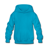Customizable Kids' Hoodie add your own photos, images, designs, quotes, texts and more - turquoise