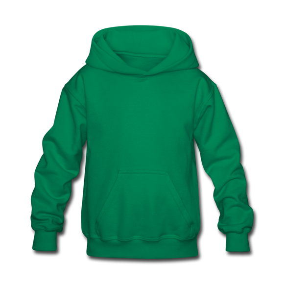 Customizable Kids' Hoodie add your own photos, images, designs, quotes, texts and more - kelly green