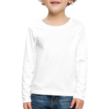 Customizable Kids' Premium Long Sleeve T-Shirt add your own photos, images, designs, quotes, texts and more - white