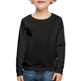 Customizable Kids' Premium Long Sleeve T-Shirt add your own photos, images, designs, quotes, texts and more - black