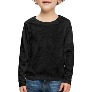 Customizable Kids' Premium Long Sleeve T-Shirt add your own photos, images, designs, quotes, texts and more - navy