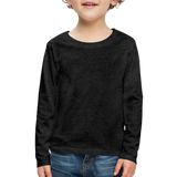 Customizable Kids' Premium Long Sleeve T-Shirt add your own photos, images, designs, quotes, texts and more - charcoal gray