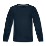 Customizable Kids' Premium Long Sleeve T-Shirt add your own photos, images, designs, quotes, texts and more - deep navy