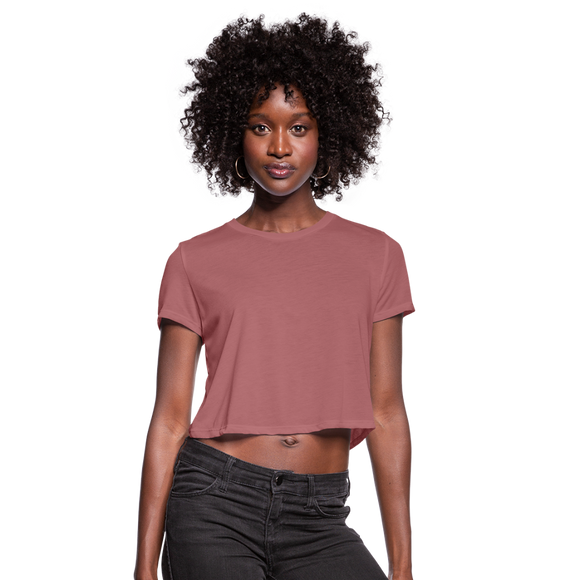 Customizable Women's Cropped T-Shirt add your own photos, images, designs, quotes, texts and more - mauve