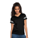 Customizable Women's Vintage Sport T-Shirt add your own photos, images, designs, quotes, texts and more - black/white