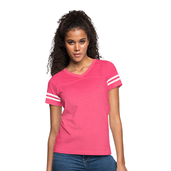 Customizable Women's Vintage Sport T-Shirt add your own photos, images, designs, quotes, texts and more - vintage pink/white