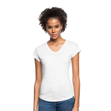 Customizable Women's Tri-Blend V-Neck T-Shirt add your own photos, images, designs, quotes, texts and more - white